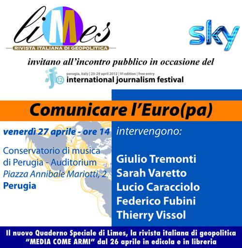 """Limes e Sky presentano a Perugia """"Media come armi"""""""