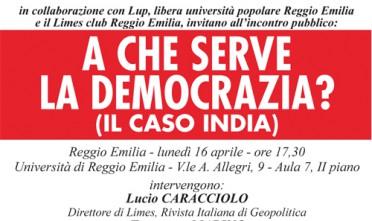 Reggio Emilia: A che serve la democrazia?