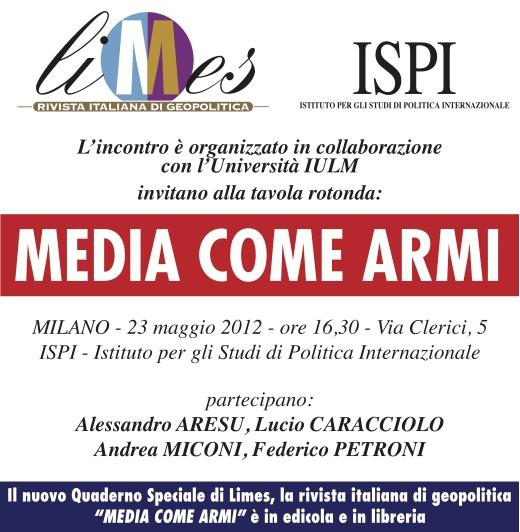Milano: Media come armi