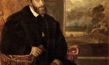 Un ritratto dell'imperatore Carlo V in un dipinto del pittore veneziano Tiziano Vecellio (1548).