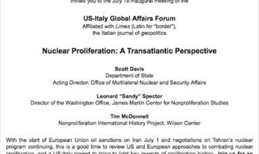 Limes a Washington per lo US-Italy global affairs forum