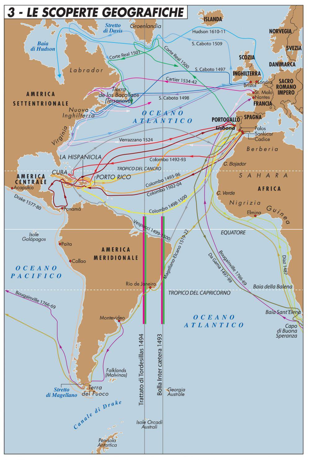 Cartina Geografica Spagna E Isole.La Prospettiva Di Tordesillas Come Introduzione Alla Geopolitica Spagnola Limes
