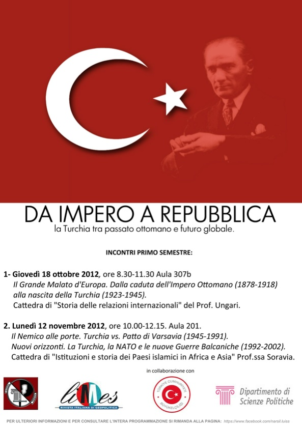 Da Impero a Repubblica: conferenze sulla Turchia a Roma