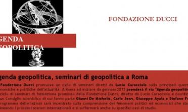 Agenda geopolitica, seminari di geopolitica a Roma