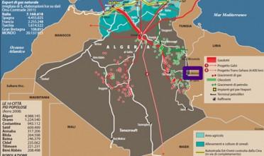 Algeria, attacco terroristico a un campo di gas naturale (Carta)