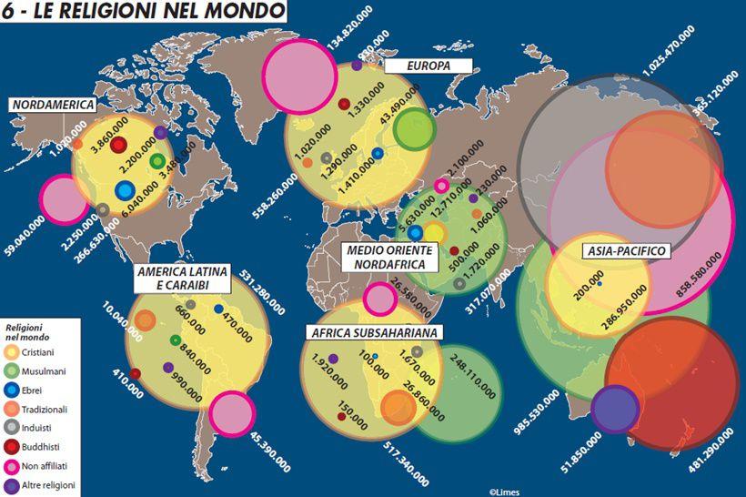 Religioni Nel Mondo Cartina.Le Religioni Nel Mondo Limes