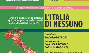 """Presentazione a Bologna di """"L'Italia di nessuno"""""""