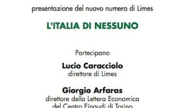 """Presentazione a Reggio Emilia di """"L'Italia di nessuno"""""""