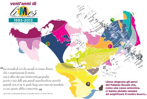 Il giro del mondo in 3 giorni: festa per i 20 anni di Limes al Palazzo Ducale di Genova