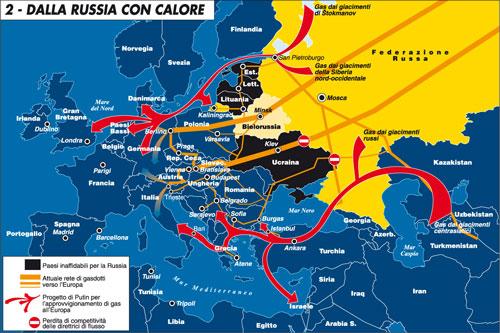 In Ucraina si gioca anche la partita energetica tra Russia e Ue