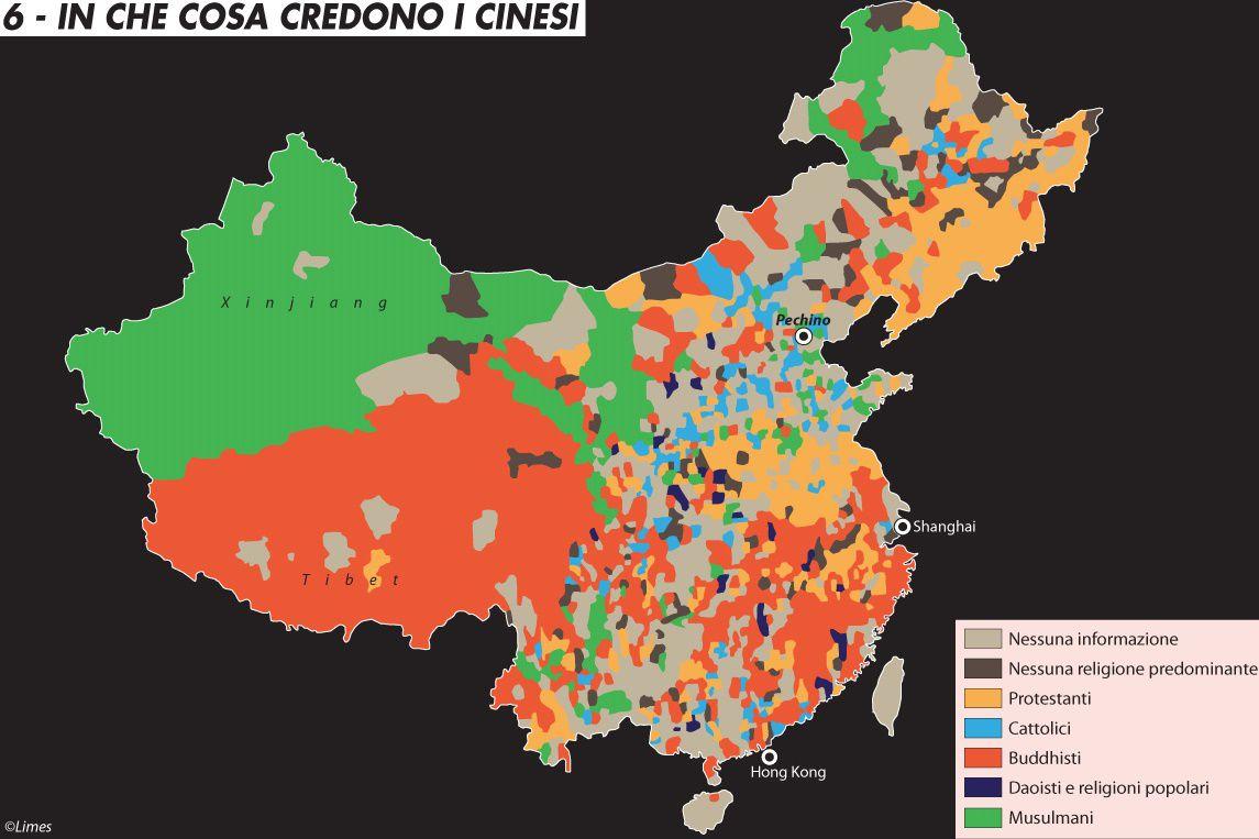 Cartina Del Mondo Con Le Diverse Religioni.In Che Cosa Credono I Cinesi Limes