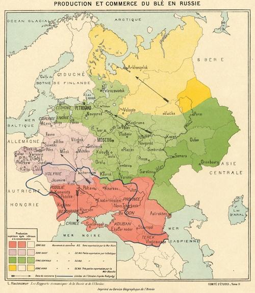 Produzione e commercio del grano in Russia, 1919