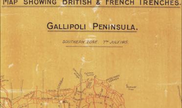 Mappa Gallipoli tagliata