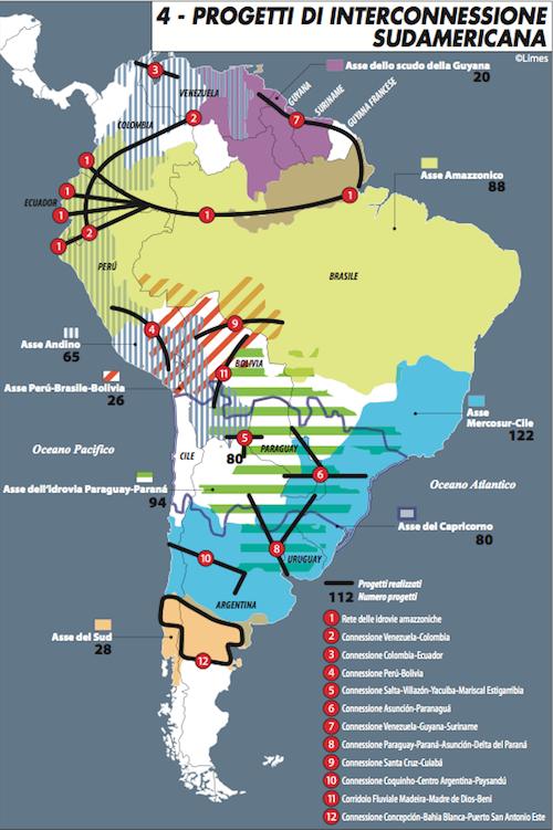 Progetti di interconnessione sudamericana