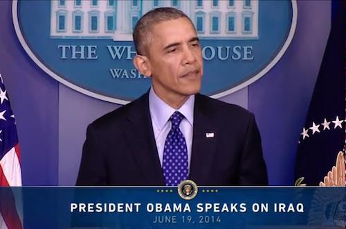 Il discorso del presidente Obama sulla situazione in Iraq