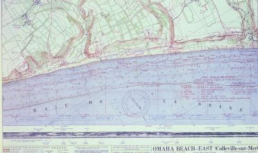 """""""Omaha Beach West"""", War Office. General Staff. Geographical Section, f. 79, 1944."""