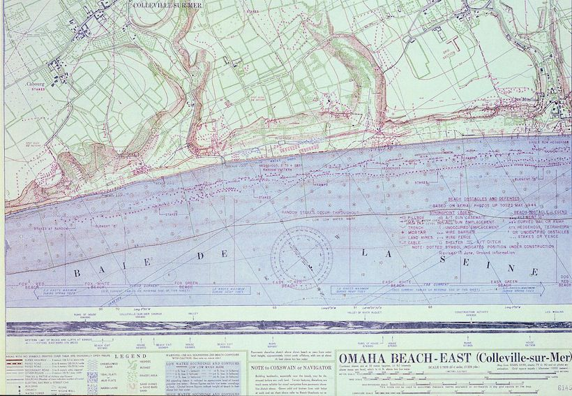 """Omaha Beach West"", War Office. General Staff. Geographical Section, f. 79, 1944."