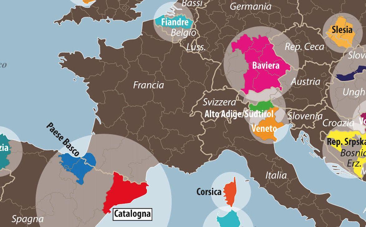 Cartina Spagna Catalogna.Locale Spagnola Europea Le Tre Crisi Della Catalogna Limes