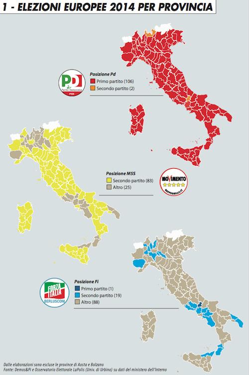 Elezioni europee 2014 per provincia