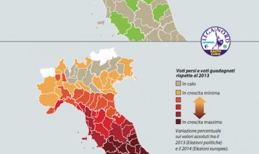 Elezioni europee 2014: Lega Nord (%)
