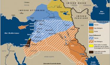 I confini del Medio Oriente dopo la Prima Guerra Mondiale