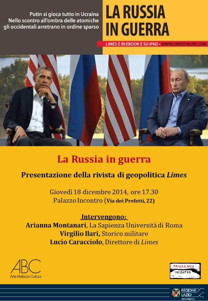 """A Roma, Limes presenta """"La Russia in guerra"""""""