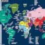 Una carta di Laura Canali sulle principali aree di influenza di alcune valute.