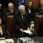 [Il presidente della Repubblica Sergio Mattarella durante il suo messaggio al Parlamento. Fonte: LaRepubblica.it]