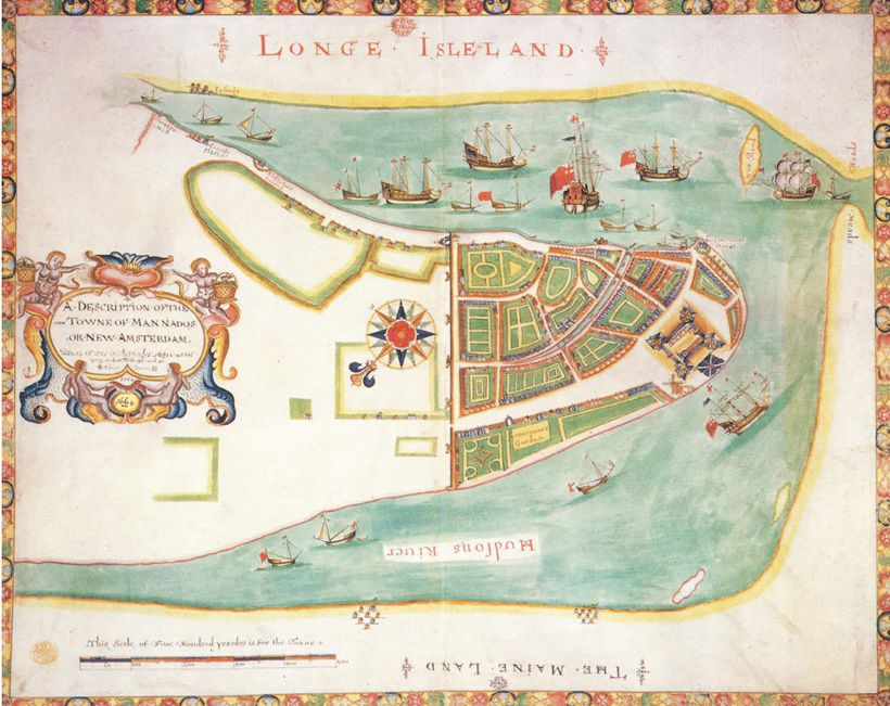 ANONIMO, A Description of the Towne of Mannados or New Amsterdam, 1664.