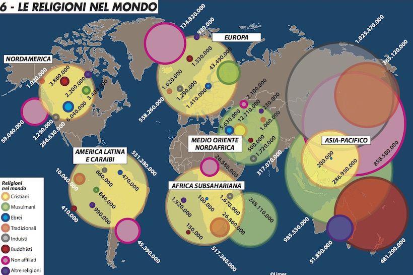 Cartina Geografica Delle Religioni Nel Mondo.Le Religioni Nel Mondo Limes