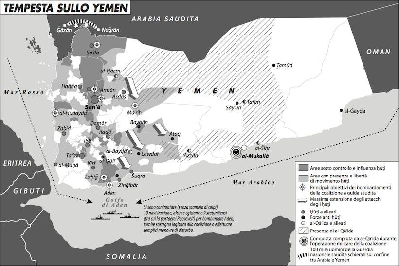 Una carta di Francesca La Barbera presente nell'articolo di Adam Baron 'In Yemen la tempesta non è decisiva'.