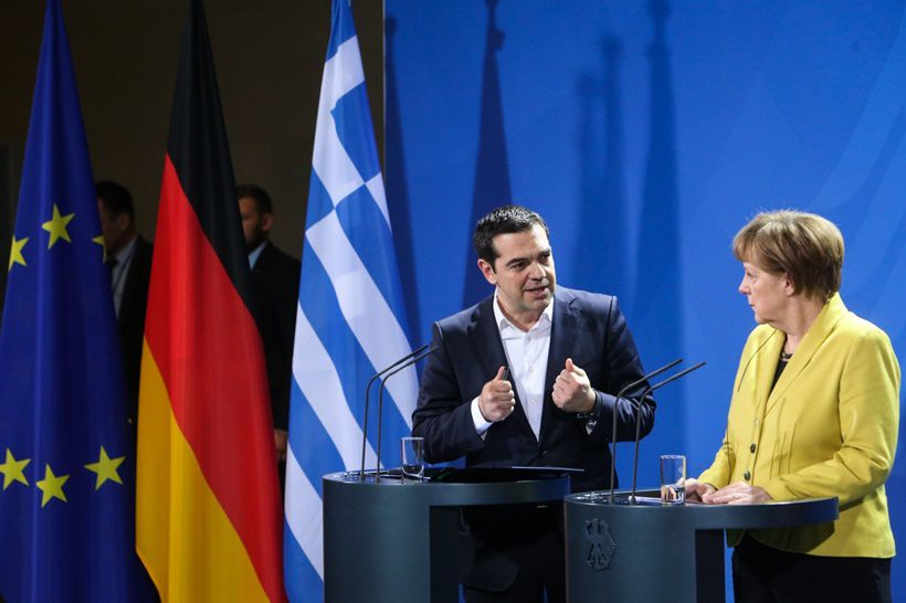 GERMANY-BERLIN-GREECE-PM-MEETING