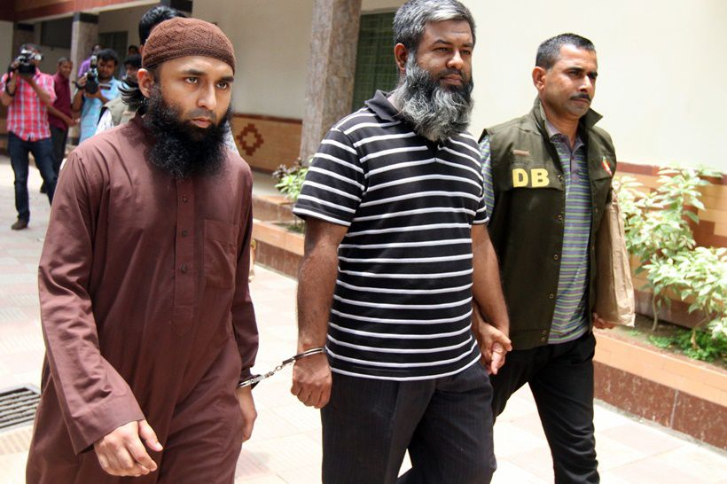 25 May 2015, Dhaka, Bangladesh, Bengal --- Dhaka, Bangladesh. 25th May 2015 -- Police arrested two activists of Middle East-based radical group Islamic State (ISIS). Dhaka Metropolitan Police's (DMP) spokesperson Jahangir Alam said that they were arrested on Sunday night from Dhaka's Uttara. 25 May, 2015. --- Image by © SK HASAN ALI/Demotix/Corbis