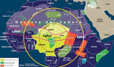 Zone di conflitto intorno al lago Ciad