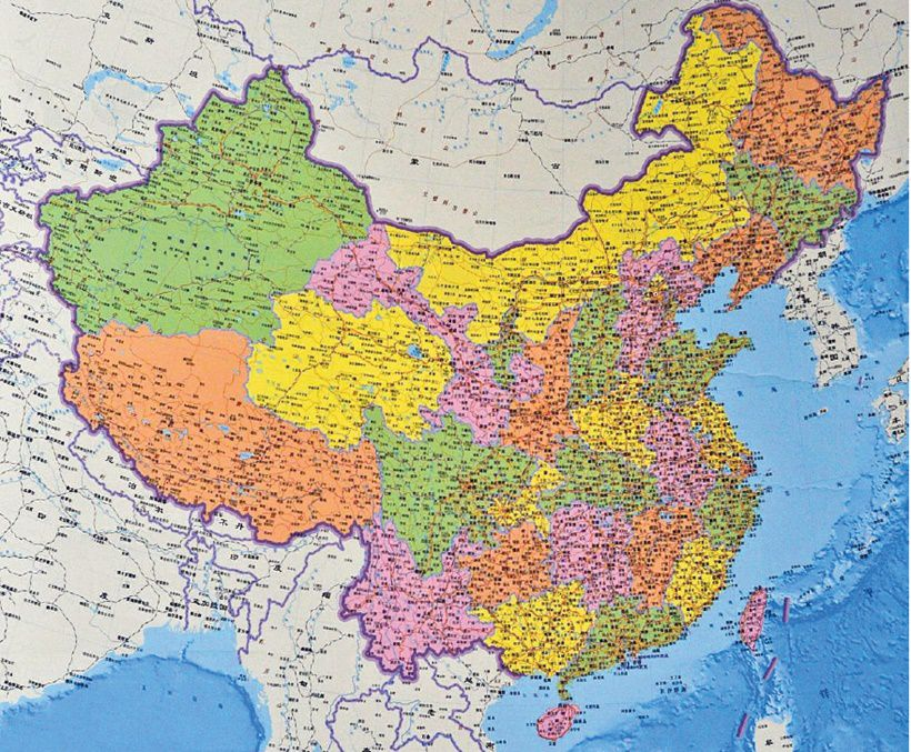 Cartina Geografica Della Cina.Le Nuove Regole Della Cina Sulle Mappe Limes