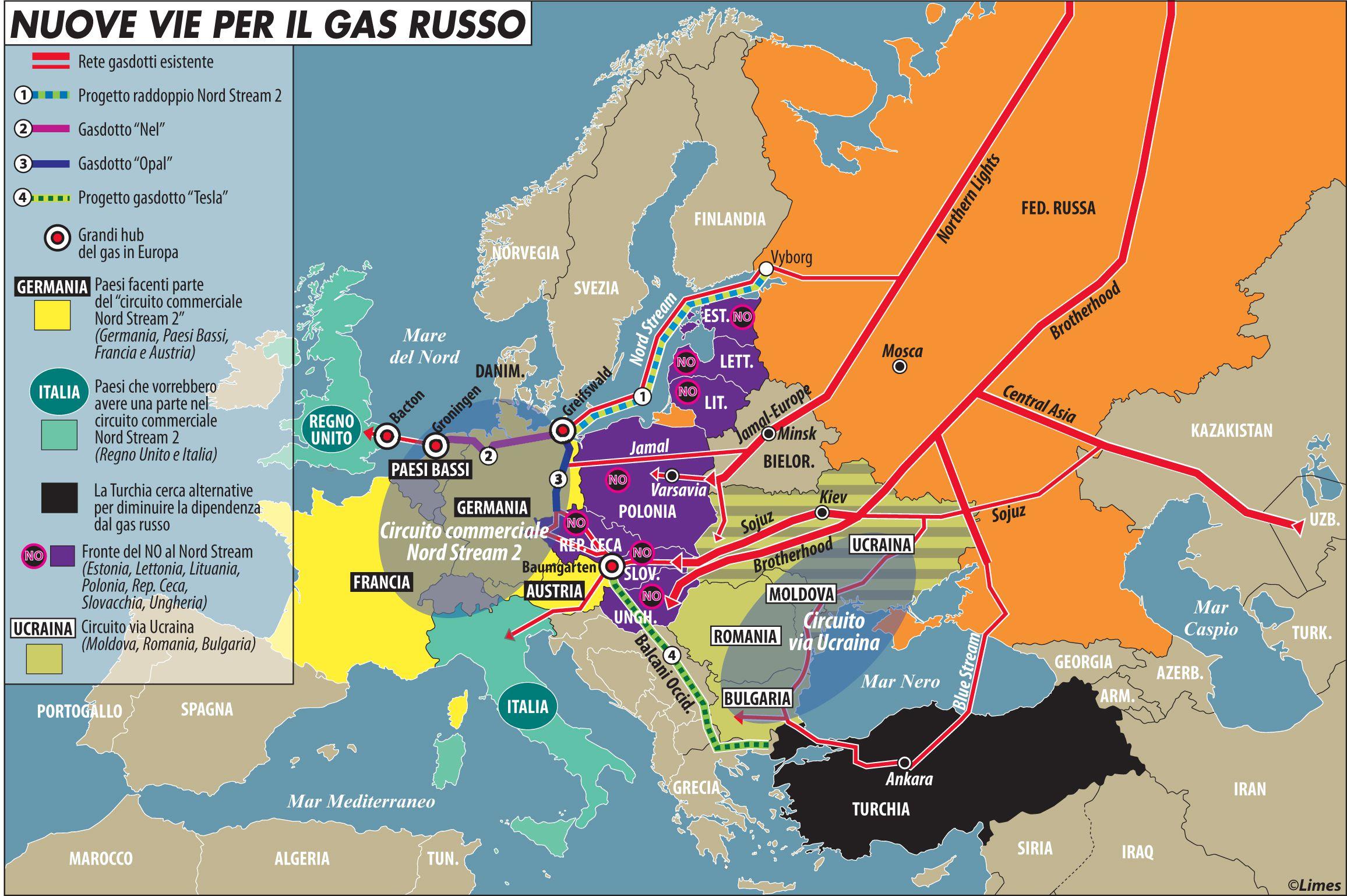 Nuove vie per il gas russo