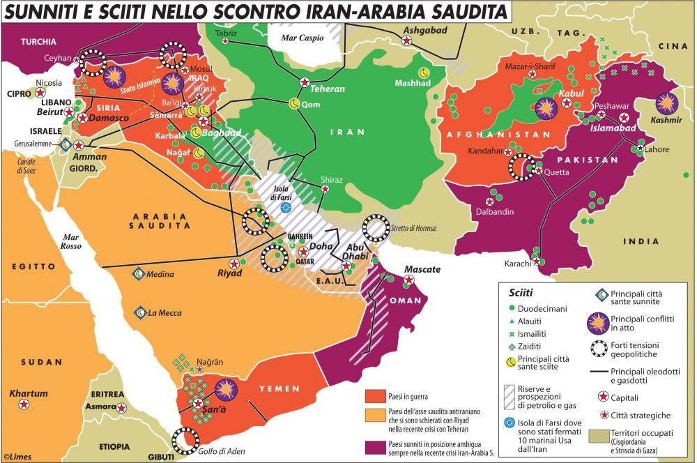 Sciiti e sunniti nello scontro Iran-Arabia S.