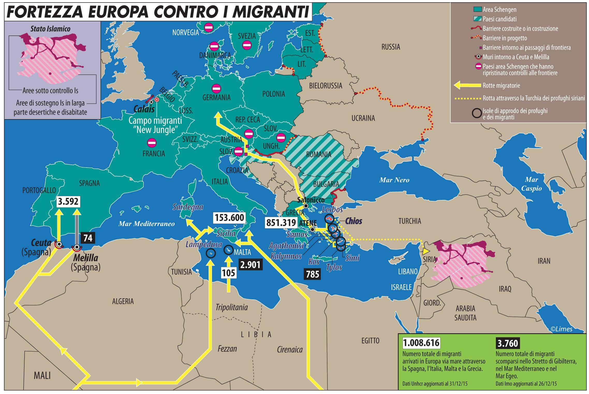 fortezza europa e migranti
