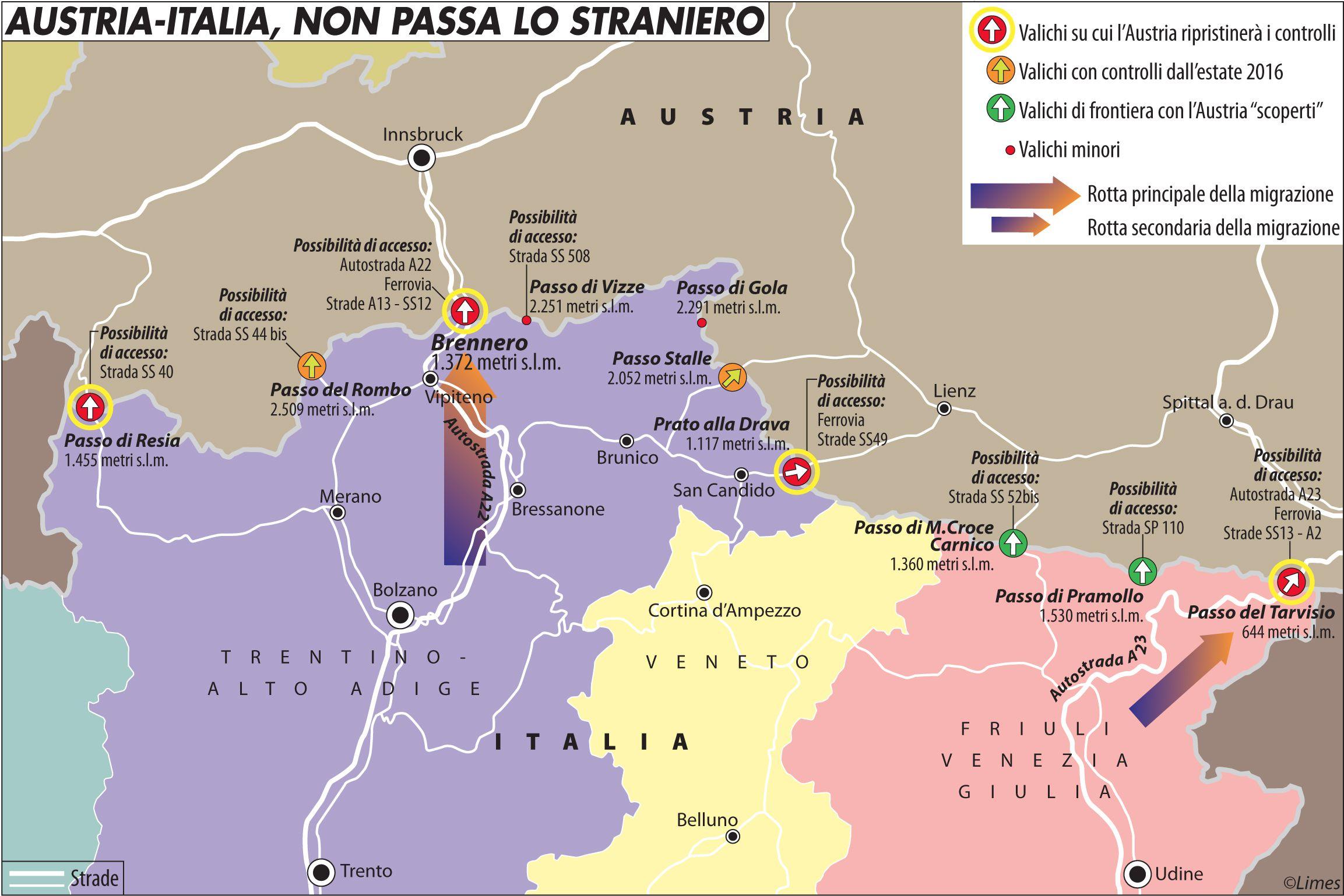 Austria-Italia, non passa lo straniero