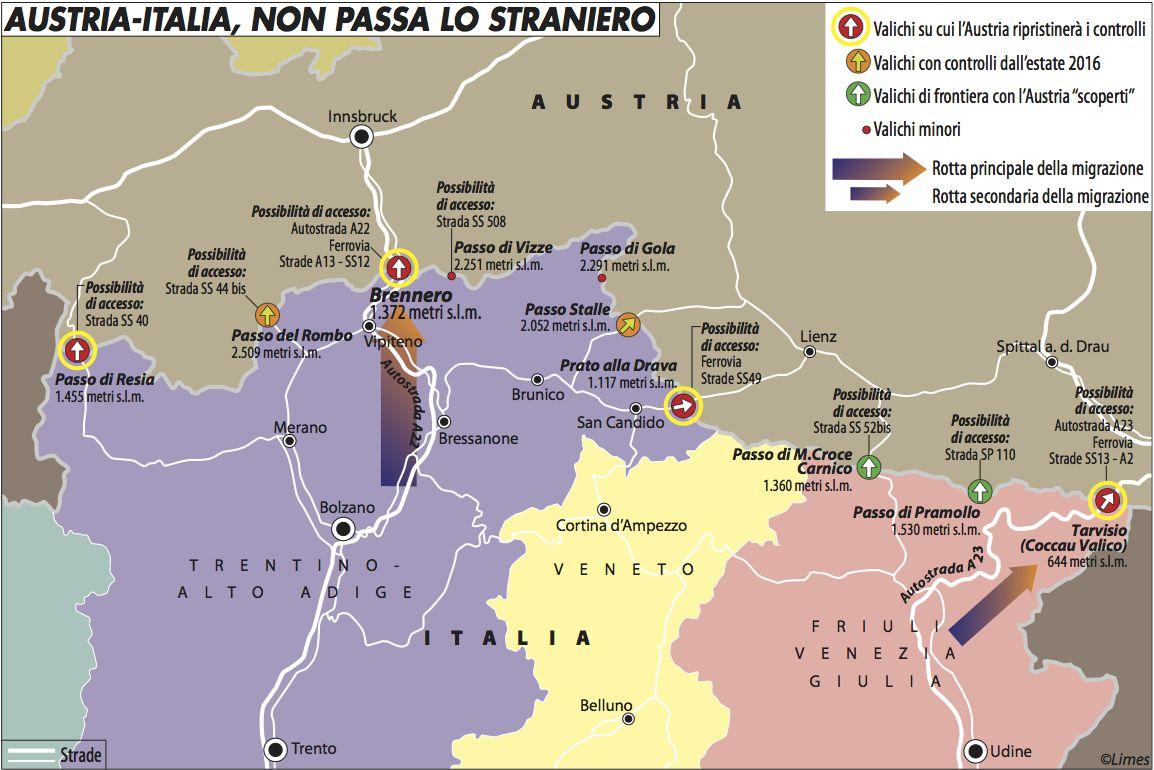 Austria-Italia, non pasa lo straniero