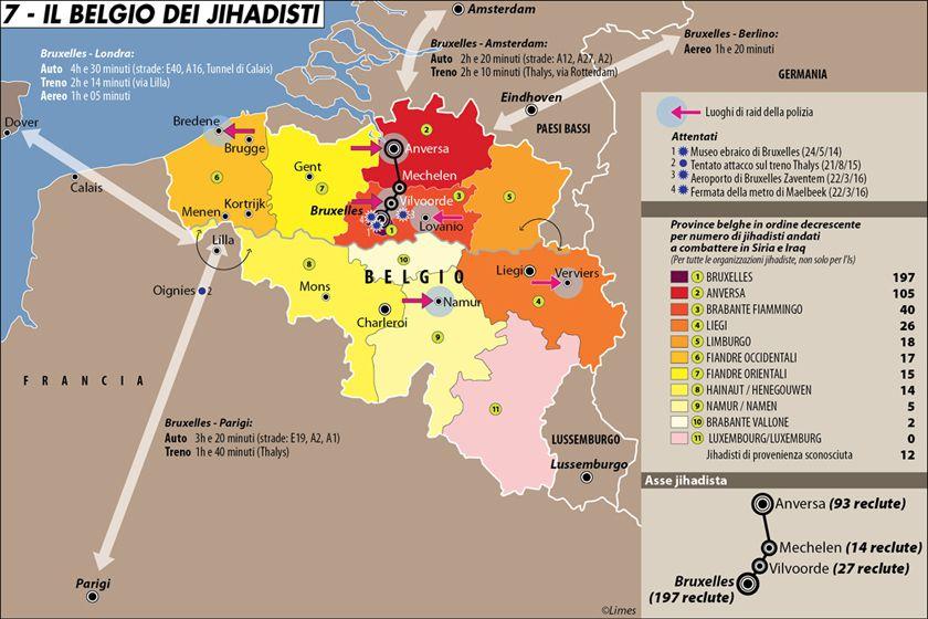Il Belgio dei jihadisti