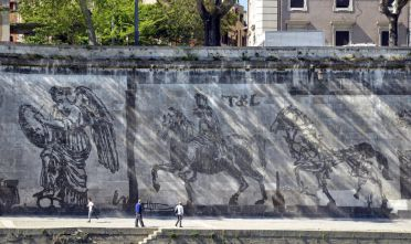 Murales Kentridge Credit: Roma.Repubblica.it