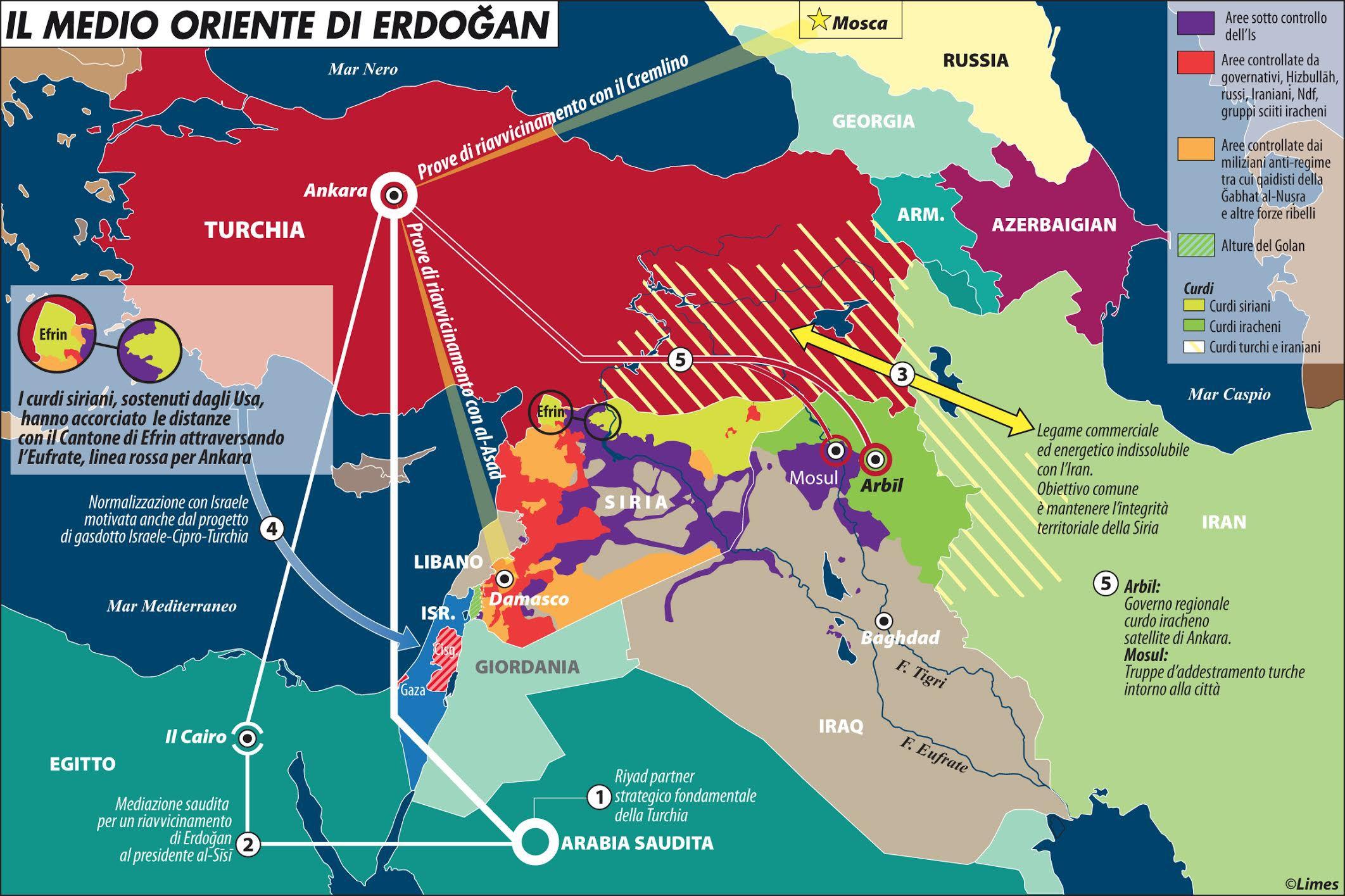 medio oriente di erdogan