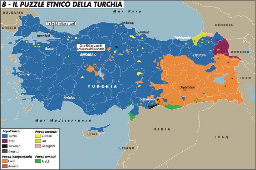 Il puzzle etnico della Turchia