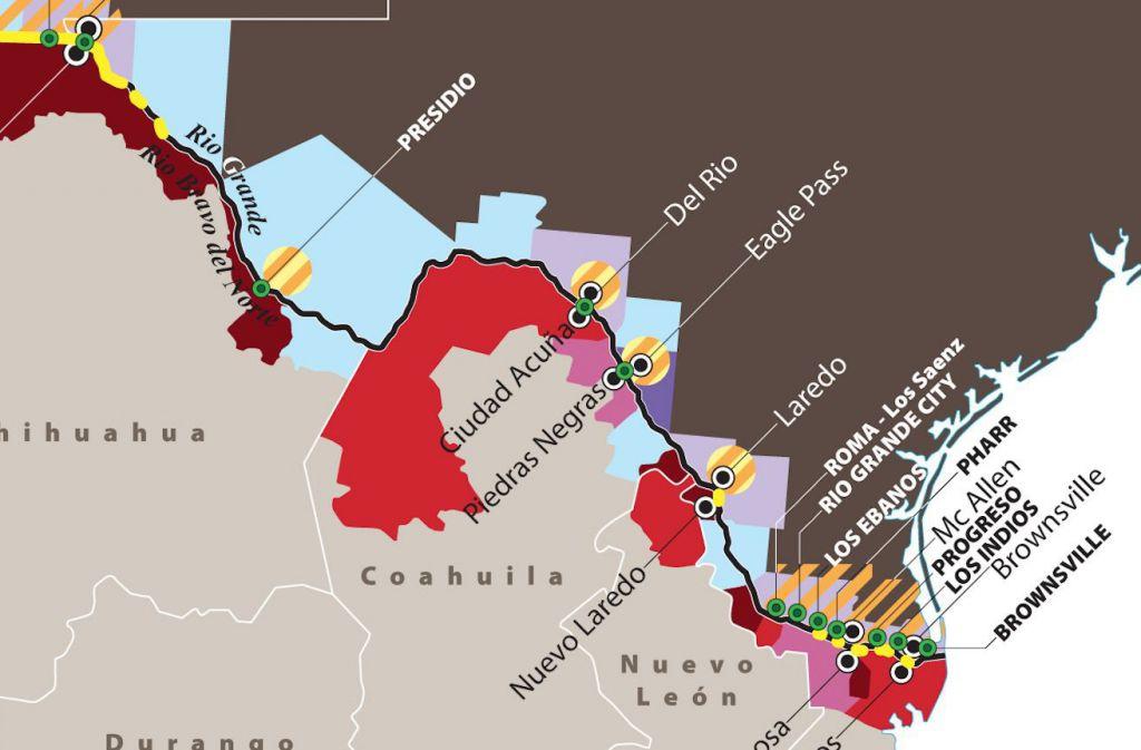 Cartina Stati Uniti Con Confini.Il Confine Usa Messico Limes