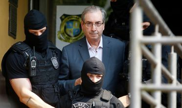 SAO PAULO, BRAZIL - OCTOBER 20:  Former Deputy Eduardo Cunha (PMDB-RJ), leaves the Legal Medical Institute (IML) after a forensic examination on October 20, 2016 in Curitiba, Brazil. Eduardo Cunha was arrested in Brasilia by the Federal Police. (Photo by  Paulo Lisboa/Brazil Photo Press/LatinContent/Getty Images)