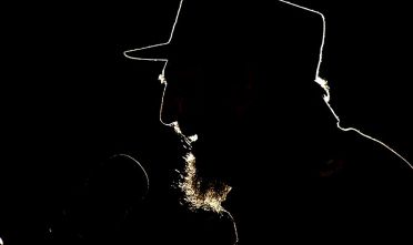 HAVANA, CUBA -  FEBRUARY 3:  Fidel Castro speaks during the ceremony in which President of Venezuela Hugo Chavez was given the UNESCO Jose Marti award  for his efforts in education February 3, 2006 in Havana, Cuba.   (Photo by Sven Creutzmann/Mambo Photography/Getty Images)