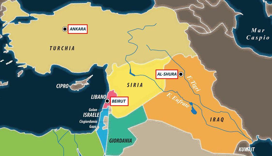 Cartina Libano E Israele.Il Libano Indipendente Di Aoun E In Mano A Siria E Iran Limes