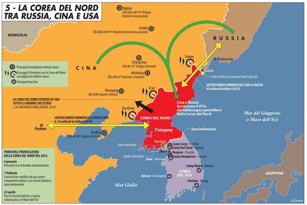 Cartina Mondo Corea.La Corea Del Nord Tra Russia Cina E Usa Limes