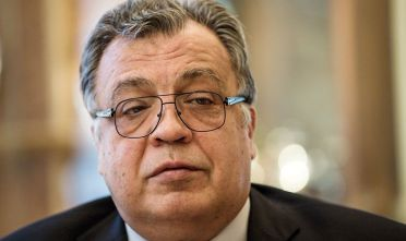 ANKARA, TURKEY - (ARCHIVE) : A file photo dated November 30, 2016 shows Russian Ambassador to Turkey, Andrei Karlov (C) during an exclusive interview in Ankara, Turkey. Russian Ambassador to Turkey Andrei Karlov has been shot multiple times at an exhibition in Ankara on December 19, 2016. Karlov was delivering a speech at the opening ceremony of a photo exhibit when an armed assailant opened fire on him. The envoy was seriously wounded and was taken to hospital immediately. (Photo by Ali Balikci/Anadolu Agency/Getty Images)